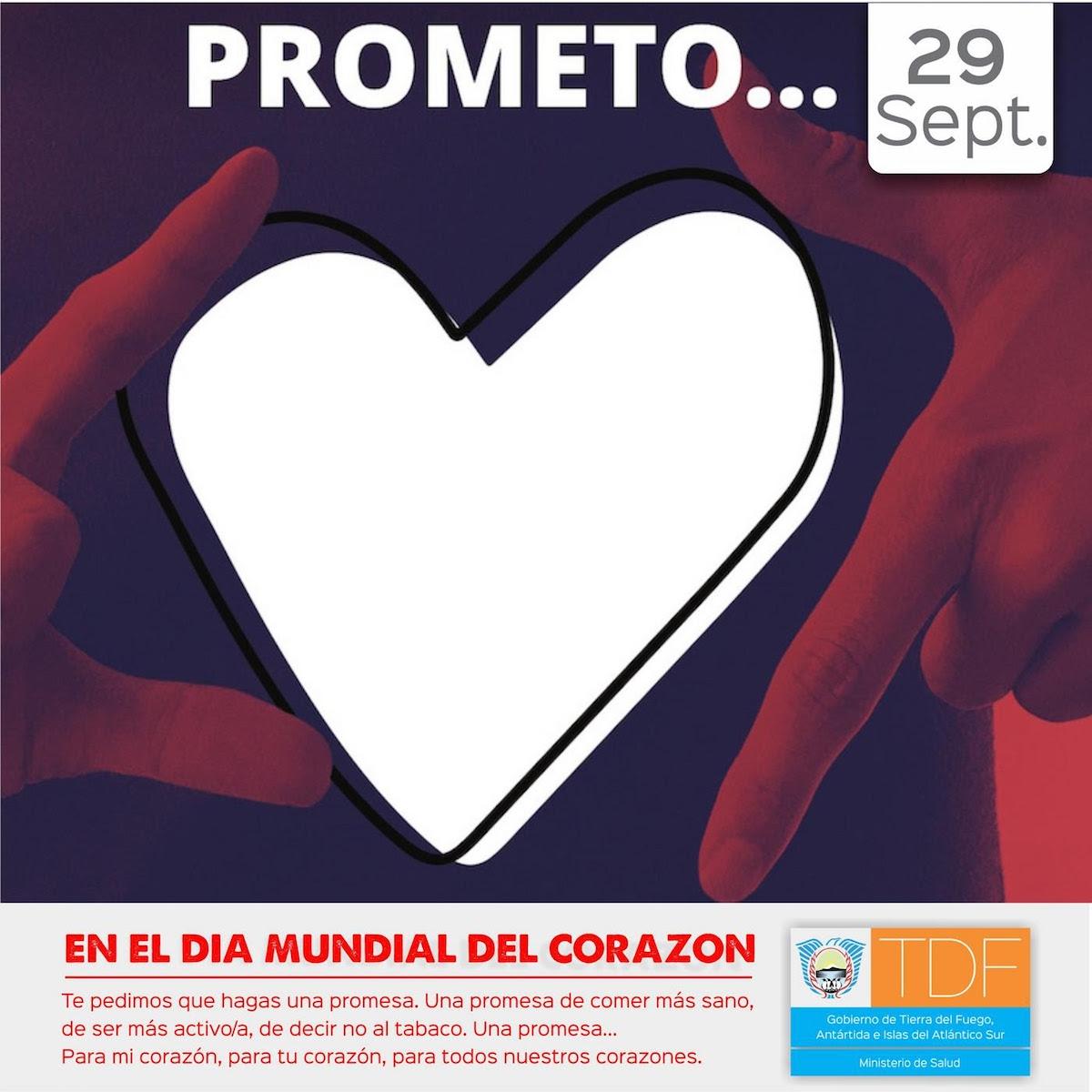 Conmemoran el Día Mundial del Corazón en TDF