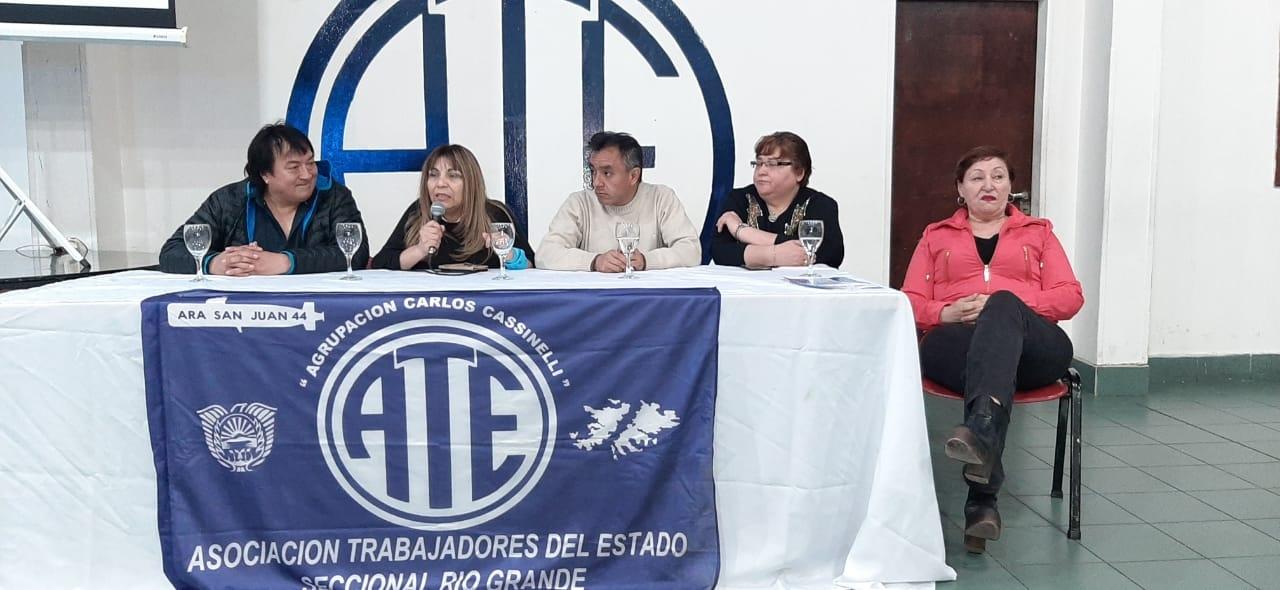 ATE Río Grande presentó a los candidatos de la Lista Azul