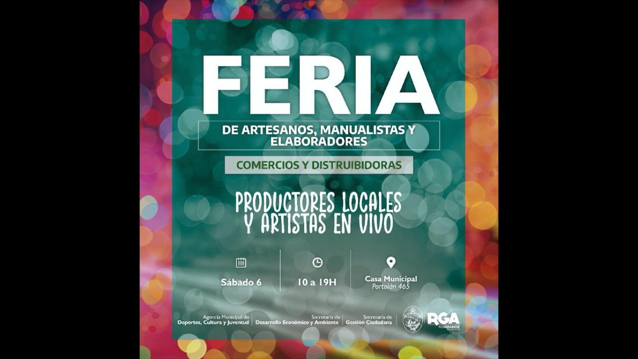 """Realizarán nueva """"Feria de productores, artesanos y manualistas locales"""""""