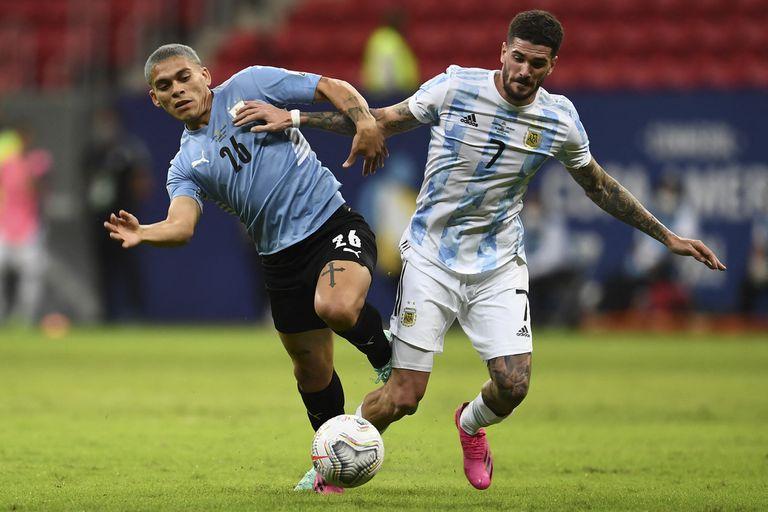 """argentina-–-uruguay.-""""tomamos-la-decision-de-ser-un-equipo-mas-compacto"""":-la-reveladora-frase-de-de-paul-y-la-confianza-de-martinez"""
