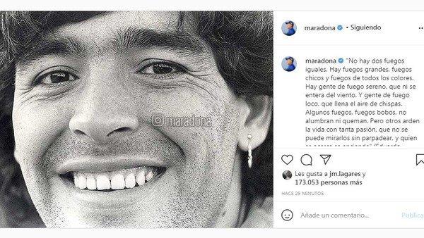 el-primer-posteo-en-la-cuenta-de-instagram-de-diego-maradona-tras-su-muerte